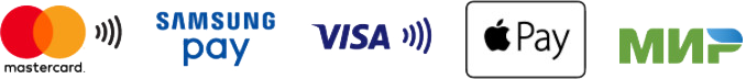 Mastercard, Samsung Pay, Visa, Apple Pay, МИР