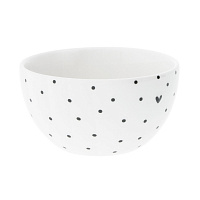 Пиала Happy Нearts Dots Black средний